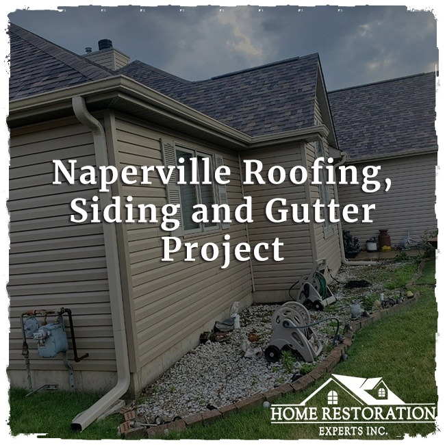 Naperville Roofing, Siding and Gutter Project